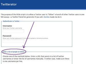 Twitterator