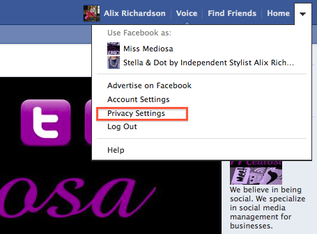 Where Are The Privacy Settings?
