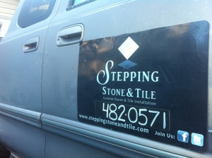 Stepping Stone & Tile Truck Sign