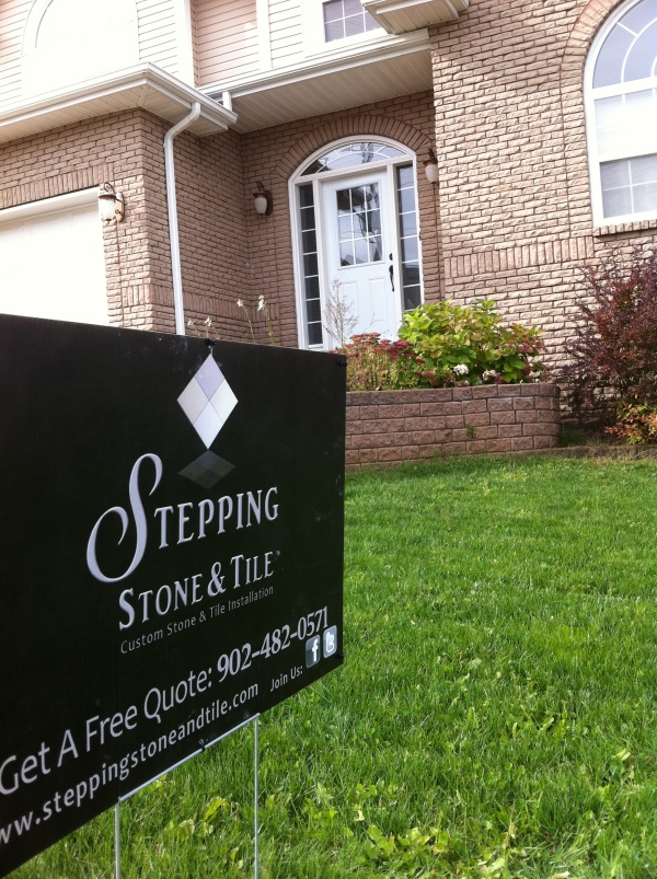 Stepping Stone & Tile Yard Sign