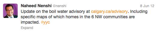 Nenshi Boil Water